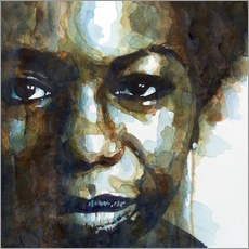 Wall sticker  Nina Simone - Paul Lovering Arts