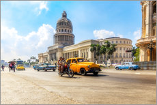 Wall sticker  Havana Capitol with Oldtimer - Reemt Peters-Hein