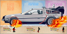 Gallery print  Back to the Future, DeLorean - HDMI2K