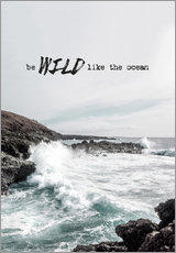Wall sticker  Wild like the ocean - Amy and Kurt