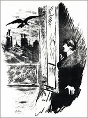 Gallery print  E.A.Poe, The Raven - Edouard Manet