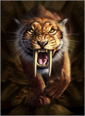 Gallery print  Full on view of a Saber-toothed Tiger - Jerry LoFaro