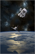 Wall sticker  An Astronaut Drifting into Space - Marc Ward