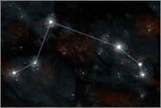 Gallery print  Artist's depiction of the constellation Aries the Ram. - Marc Ward