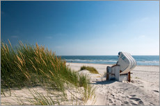 Gallery print  Beach with dunes and beach grass - Reiner Würz