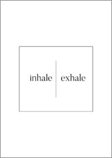Wall sticker  Inhale | Exhale - Stephanie Wünsche