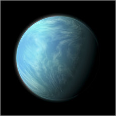 Gallery print  Artist's depiction of Kepler 22b. - Marc Ward