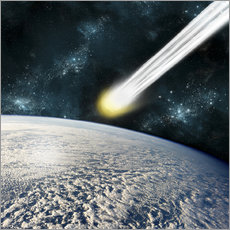 Wall sticker  Comet is racing towards the earths surface - Marc Ward