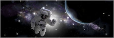 Gallery print  Astronaut floating in outer space - Marc Ward