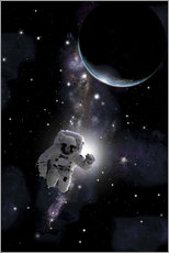 Gallery print  Artist's concept of an astronaut floating in outer space. - Marc Ward