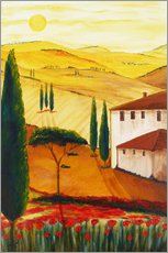 Wall sticker  Tuscan idyll 3 (brighter) - Christine Huwer