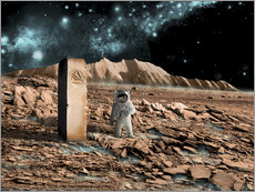 Wall sticker  Astronaut on an alien world discovers an artifact that indicates past intelligent life. - Marc Ward