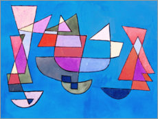 Canvas print  Sailing boats - Paul Klee