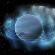 Wall sticker Artist's concept of planet Neptune.