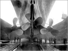 Gallery print  Shipyard workers with the Titanic - John Parrot
