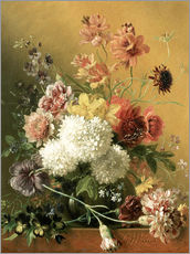 Gallery print  Still Life with Flowers - Georgius Jacobus Johannes van Os
