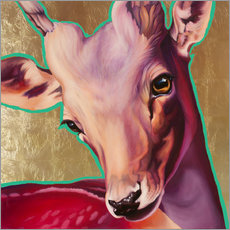 Gallery print  deer gold - Renate Berghaus