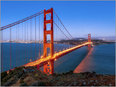 Wall sticker  Night shot of the Golden Gate Bridge in San Francisco California, USA - Jan Christopher Becke