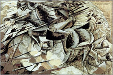 Wall sticker  The Charge of the Lancers - Umberto Boccioni