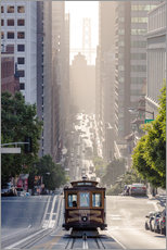 Gallery print  Cable car in San Francisco - Matteo Colombo