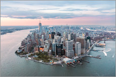 Wall sticker  Aerial view of lower Manhattan, New York - Matteo Colombo