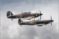 Gallery print  BBMF SPit and Hurry - airpowerart