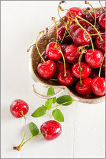 Gallery print  A bowl of delicious cherries - Edith Albuschat