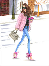 Wall sticker  Pink fashionistas - Rongrong DeVoe