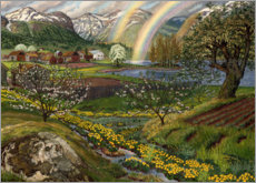 Canvas print  Buttercups and rainbow - Nikolai Astrup