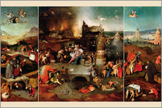 Gallery print  Temptation of Saint Anthony - Hieronymus Bosch