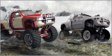 Wall sticker  Monster Truck Race - Kalle60
