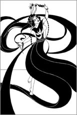 Wall sticker  Oriental dancer - Aubrey Vincent Beardsley