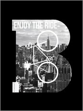 Wall sticker Enjoy the ride bicycle graphic monogram