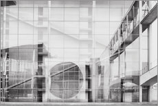 Gallery print  Reflection on Paul Löbe House in Berlin's government district - Philipp Dase