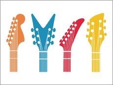Wall sticker  Guitar headstocks - Nory Glory Prints