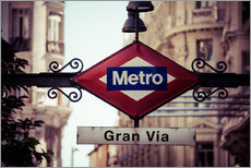 Wall sticker  Metro sign, Madrid