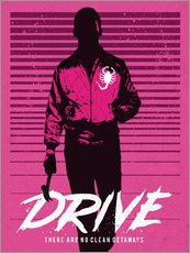 Wall sticker  Drive Ryan Gosling movie inspired art print - Golden Planet Prints