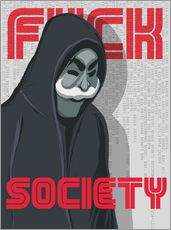 Wall sticker  Mr. Robot (F*ck Society) - Golden Planet Prints