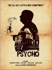 Gallery print  Psycho - Golden Planet Prints