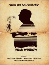 Gallery Print  Rear window movie inspired hitchcock silhouette art print - Golden Planet Prints