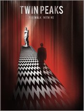 Wall sticker  Twin Peaks, firewalk with me - Golden Planet Prints