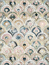 Gallery Print  Art Deco Marble Tiles in Soft Pastels - Micklyn Le Feuvre
