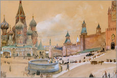 Gallery print  Moscow (Kremlin and St. Basil's Cathedral) - Albert Edelfelt