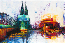 Wall sticker  Cologne Cathedral Skyline - Renate Berghaus