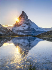 Gallery print  Riffelsee and Matterhorn in the Swiss Alps - Jan Christopher Becke
