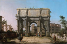 Gallery print  Arch of Constantine with the Colosseum - Antonio Canaletto