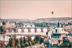 Gallery print  Balloon over the bridges of Prague - Philipp Dase