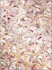 Gallery print  Dusty Rose and Coral Art Deco Marbling Pattern - Micklyn Le Feuvre