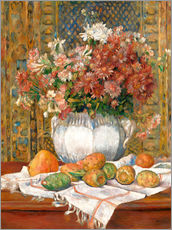 Gallery Print  Still Life with Flowers and Prickly Pears - Pierre-Auguste Renoir