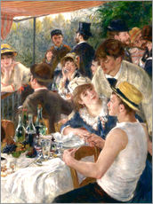 Gallery print  Luncheon of the Boating (Detail) - Pierre-Auguste Renoir